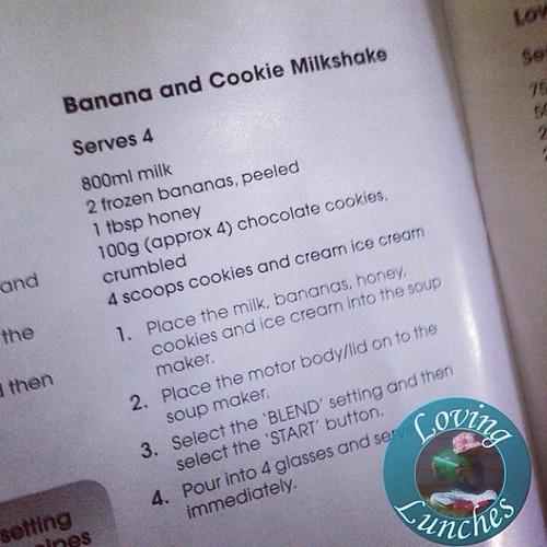 Loving a visual #mondegreen… I just read this as bacon & cookie milkshake  with @kambrookau #SoupSimple