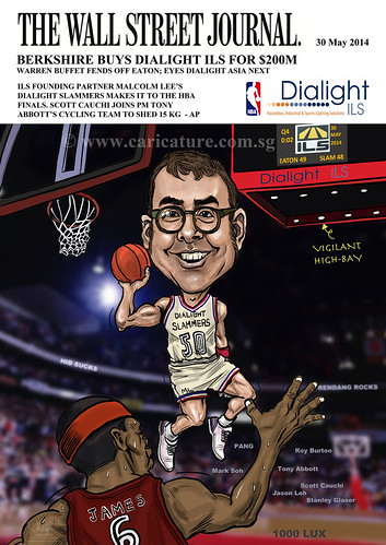 digital basketball player caricature for Dialight ILS (watermarked)