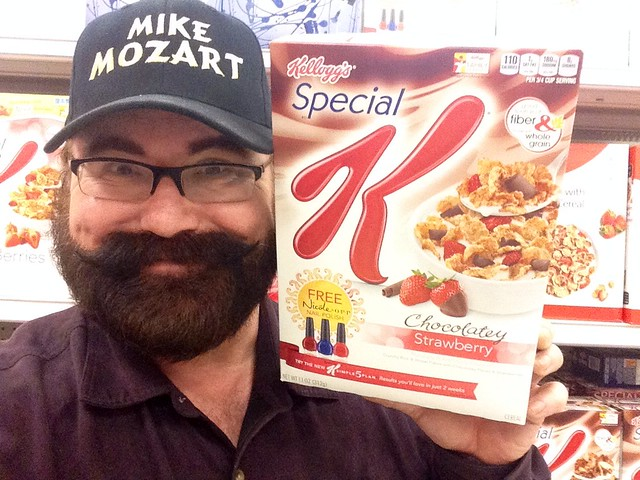 Kellogg's Special K Breakfast Cereal Chocolatey Strawberry Chocolate added. Featuring free Nicole OPI Nail Polush Promotion. Pics by Mike Mozart of TheToyChanbel and JeepersMedia on YouTube. #SpecialKCereal #KelloggsSpecialK #NailPolish #Nicole #OPI #Spec