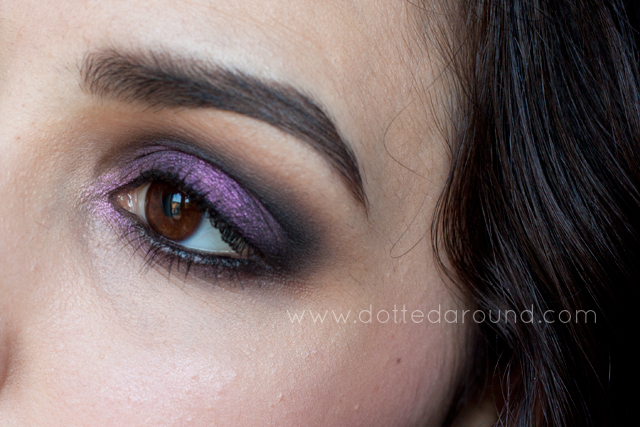 Nabla Madreperla black smokey makeup