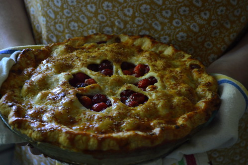 Cherry pie with almond, vanilla, & cloves