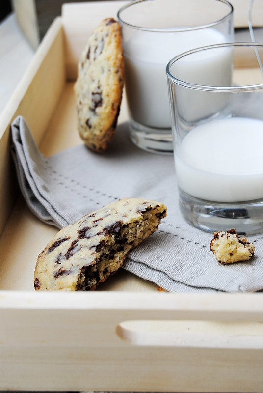 Chocolate chip cookies with spelt flour