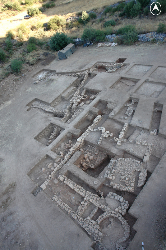 Overhead view of the excavation site. Courtesy Dickinson Excavation Project and Archaeological Survey of Mycenae