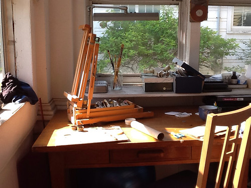 Studio with field easel