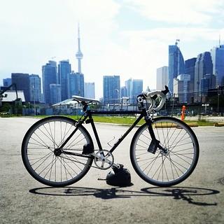 From Toronto with LOVE ♥ #fixie #fixiegirl  #nishiki #vintage #allfixedgear #love