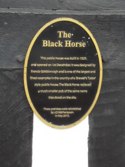 Photo of The Black Horse, Northfield, Birmingham black plaque