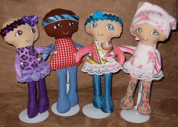 Fran's amazing Cuties for a Cure Dolls