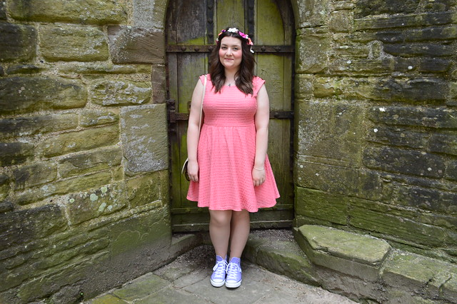 Coral dress from Dorothy Perkins