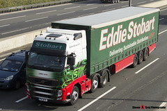 Volvo FH 6x2 Tractor with 3 Axle Curtainside Trailer - PX11 BYG - H4666 - Libbie Lexie - Eddie Stobart - M1 J10 Luton - Steven Gray - IMG_5746