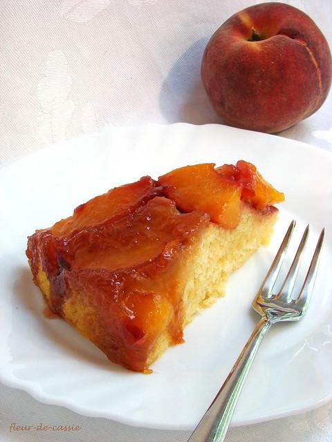 персиковый перевернутый пирог 3