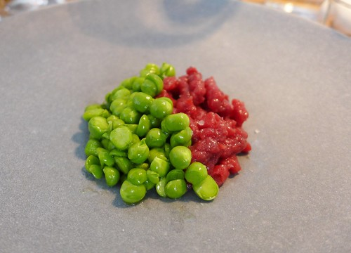 Relae venison peas and mint