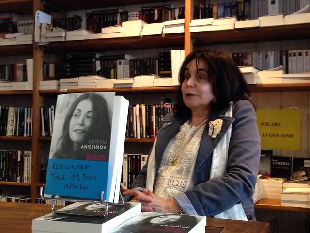 Rencontre avec Myriam Anissimov (Montreuil librairie Folies d'encre)