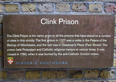 Photo of The Clink brown plaque