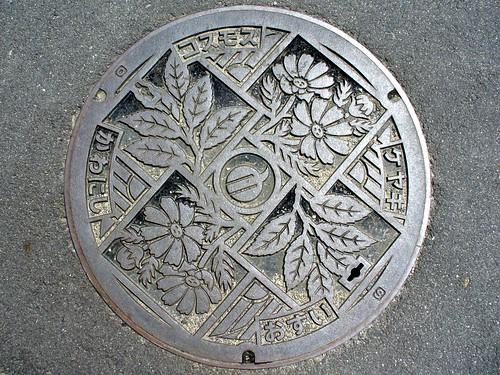 Kawanishi Nara, manhole cover (奈良県川西町のマンホール)