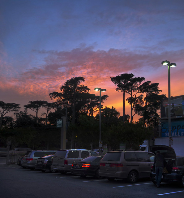 Whole Foods Parking Lot at Sunset in The Haight (2014)