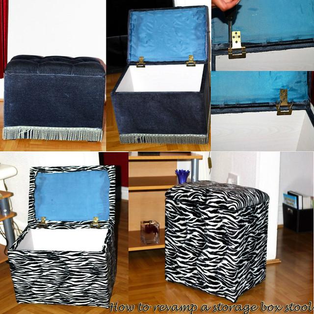 How-to-rev&-a-Storage-Box-Stool How to & Zebra print Storage Box Stool DIY | FashionCadet islam-shia.org