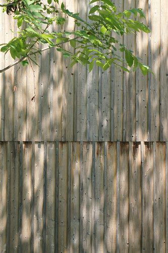 wooden outside wall