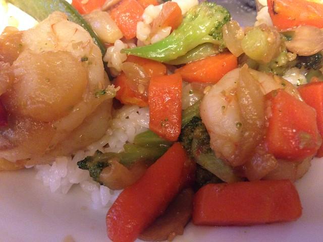 shrimp and veggie stirfry