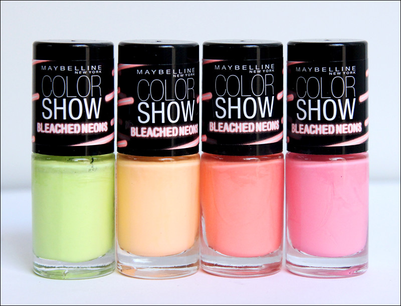Maybelline color show bleached neons