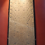 Stela Raimondi, a 7-ft tall, polished granite panel with engraved surface (Chavin culture)