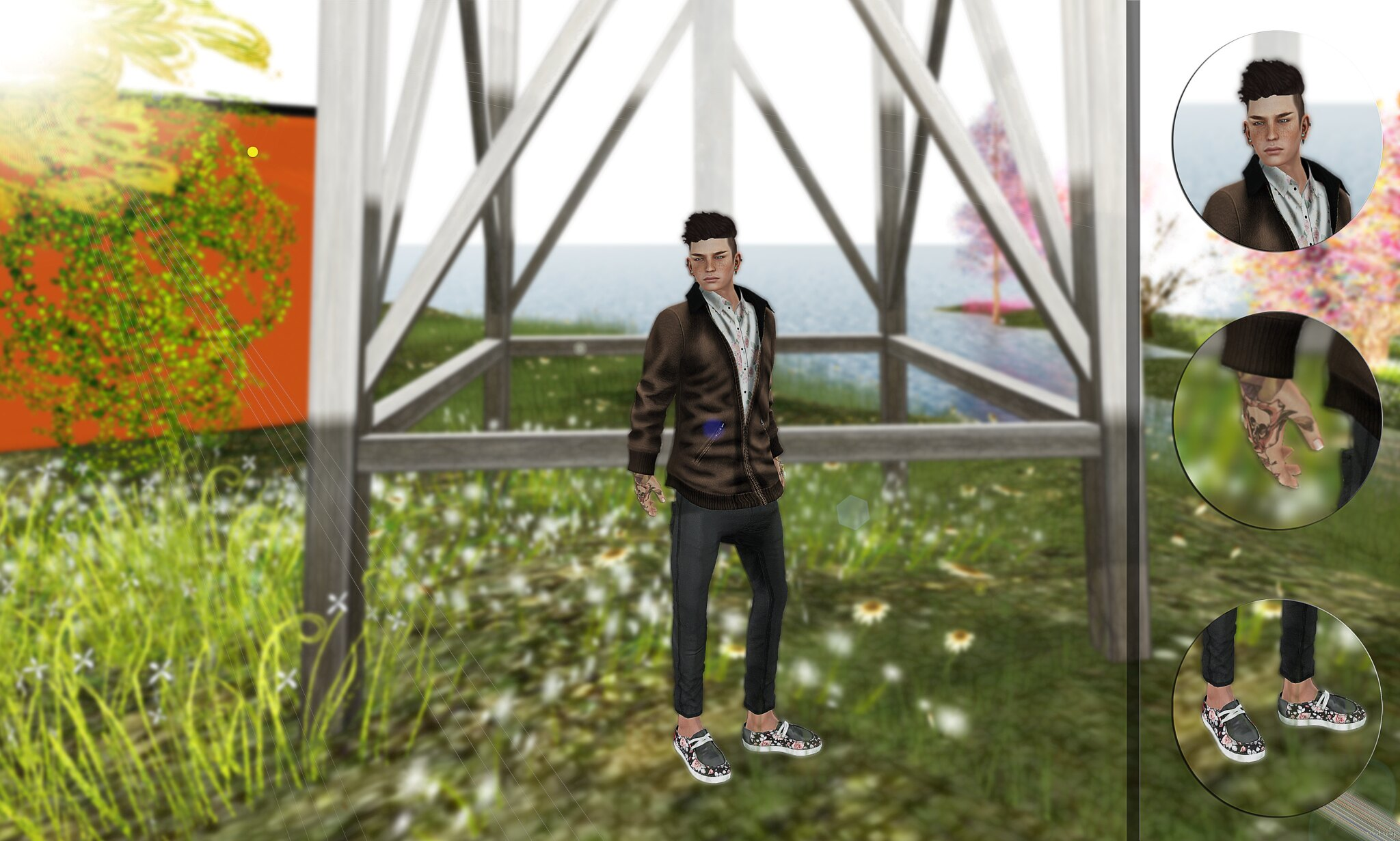 sl mesh male hipster fashion