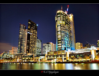 Crown casino and Eureka Tower