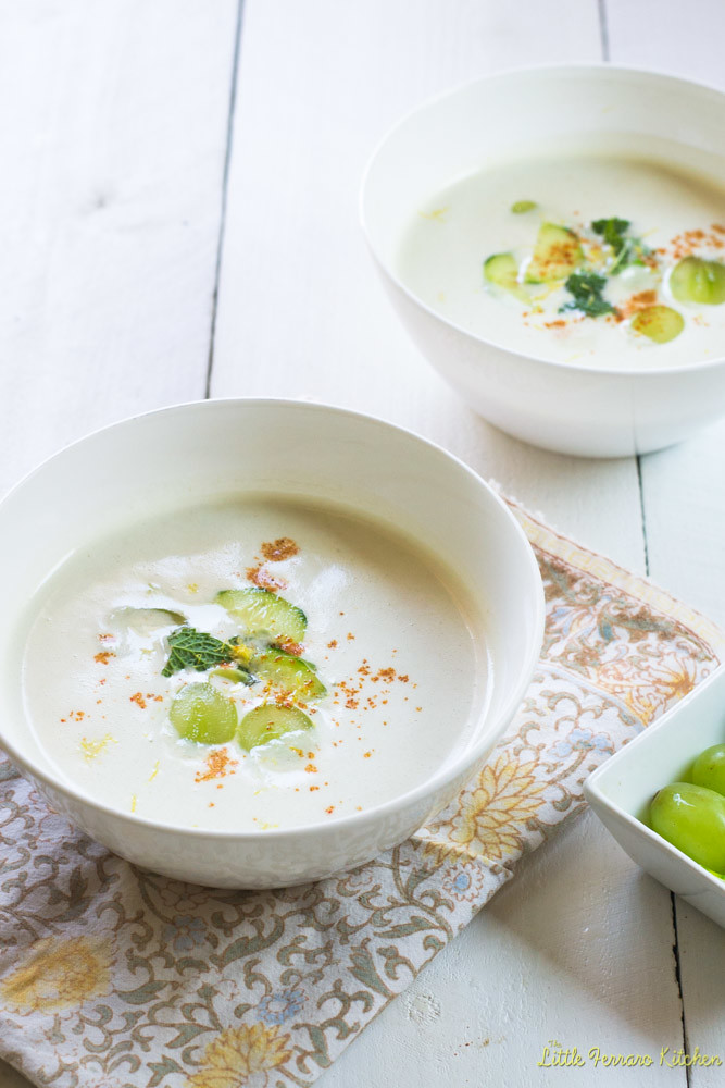 White Gazpacho via LittleFerraroKitchen.com