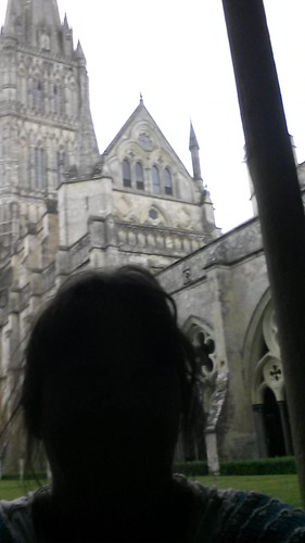 Dark blob in Salisbury Cathedral