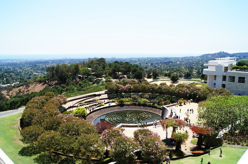 The gardens at the Getty Center.