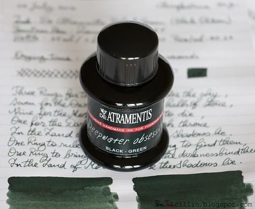 De Atramentis Black Green bottle