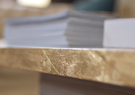 Gold foil coffee table