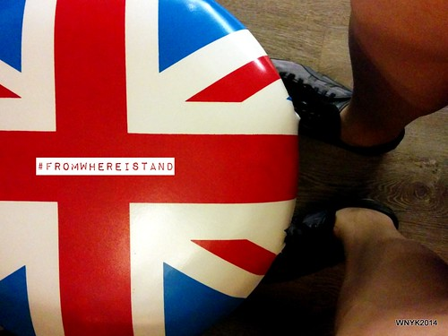 Sitting on the Union Jack