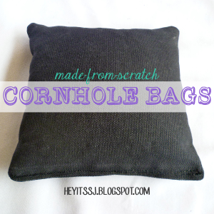 Custom Cornhole Bags Tutorial by Hey, It's SJ