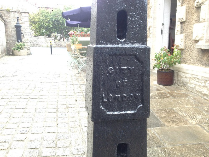 City of London bollards in Swanage