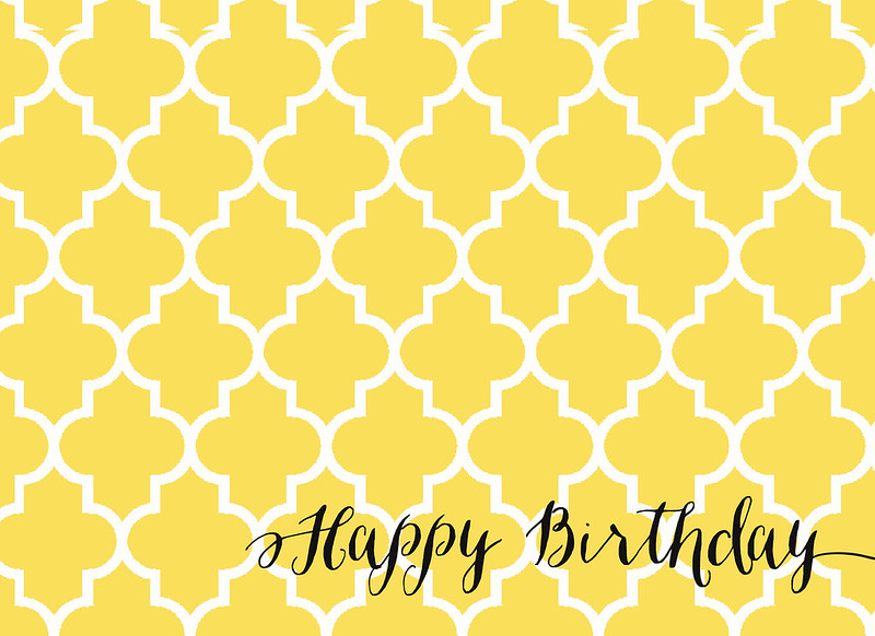 Geometric Birthday Printable
