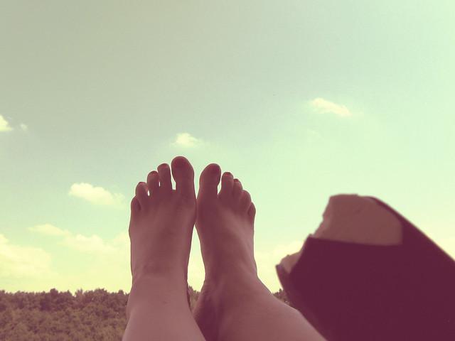Füße hoch, Urlaub!