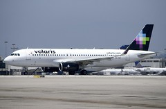 Airbus A-320, Volaris, XA-VOY, rolling out at LAX   vol_DSC_0759_320