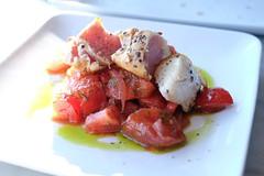 salad(0.0), plant(0.0), bruschetta(0.0), brochette(0.0), produce(0.0), fruit(0.0), panzanella(1.0), meat(1.0), food(1.0), dish(1.0), cuisine(1.0),
