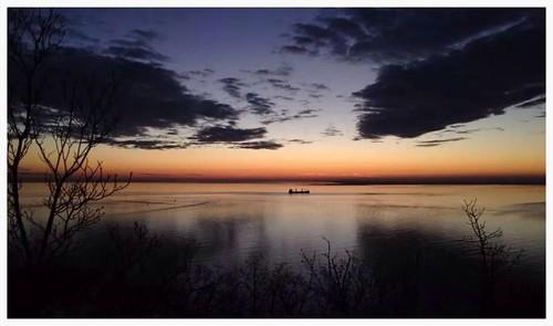 sunset landscape scene trieste