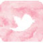 watercolor Twitter button