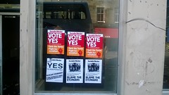Socialist Worker posters in Edinburgh, July 2014