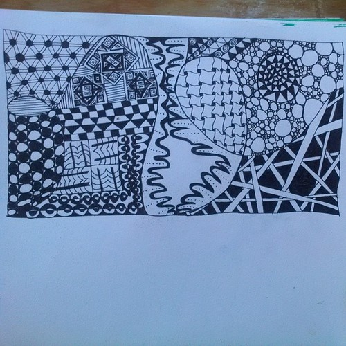 #zentangle #doodles for my #wfs2014 #artjournal Yay im artjournaling again!  Its been forever.  #zentangledoodle