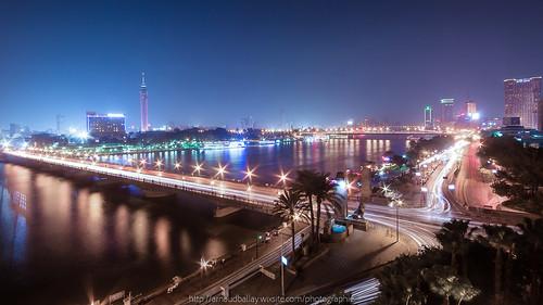le caire arnaudballayphotographie cairo egypte k10d nuit architecture city cityscape landscape plage sigma1020mm soleil urbain ville lecaire alqahira nightbridge longexposure