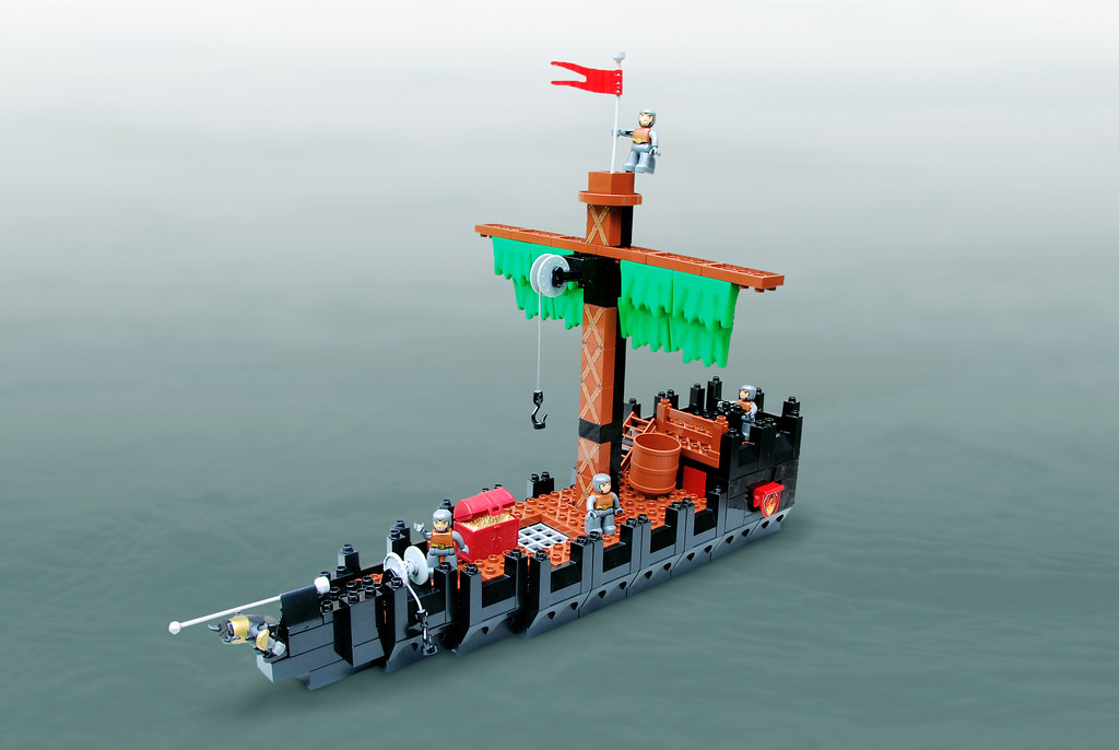 Pirate Ship (custom built Lego model)