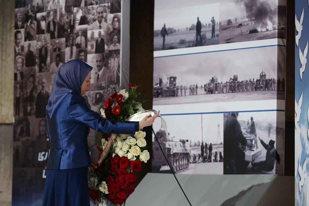 Paying homage to the martyrs of the April 8, 2011 epic battle in Ashraf-1
