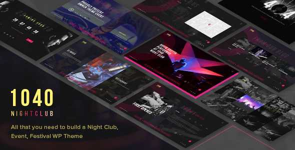 1040 Night Club WordPress Theme free download