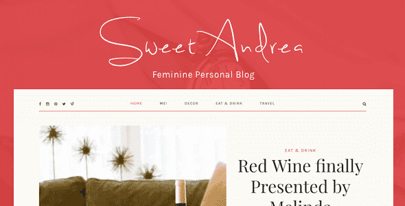 Sweet Andrea WordPress Theme free download