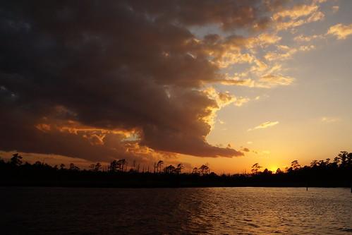 sunset cloudsstormssunsetssunrises creek northcarolina northwestcreek cloudscape clouds sonyphotographing sonya58 sony fairfieldharbour
