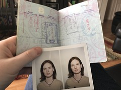 Old passport and passport photos. Verdict: saving for scrap booking.