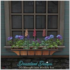 DD Wrought Iron Window Box Vendor